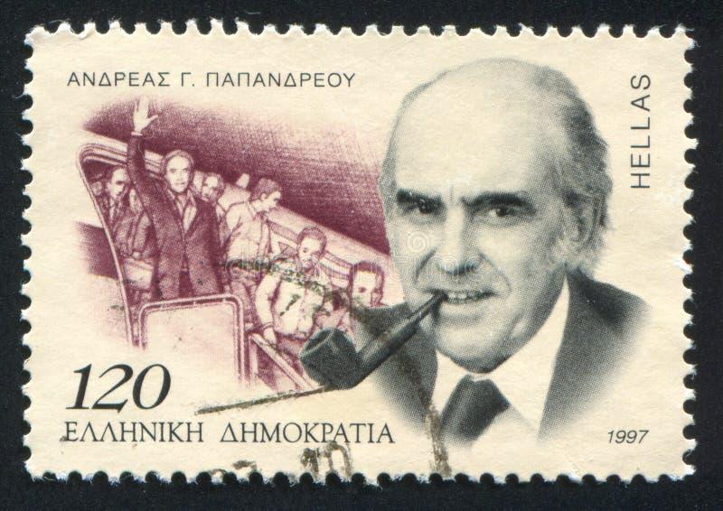 Andreas Papandreou imagem de stock royalty free