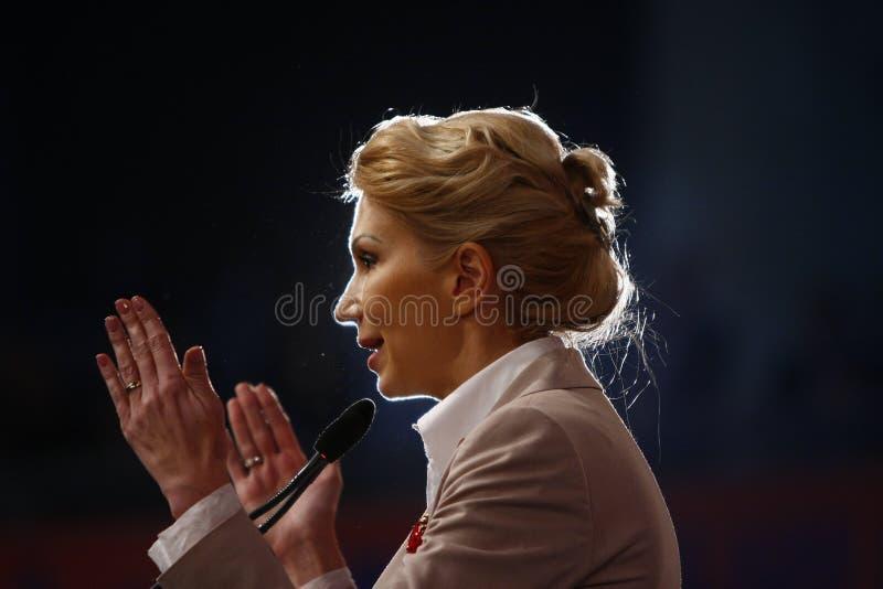 Andreea Paul Holding un discours photo libre de droits