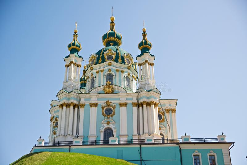 Andreevskaya kyrka arkivbild