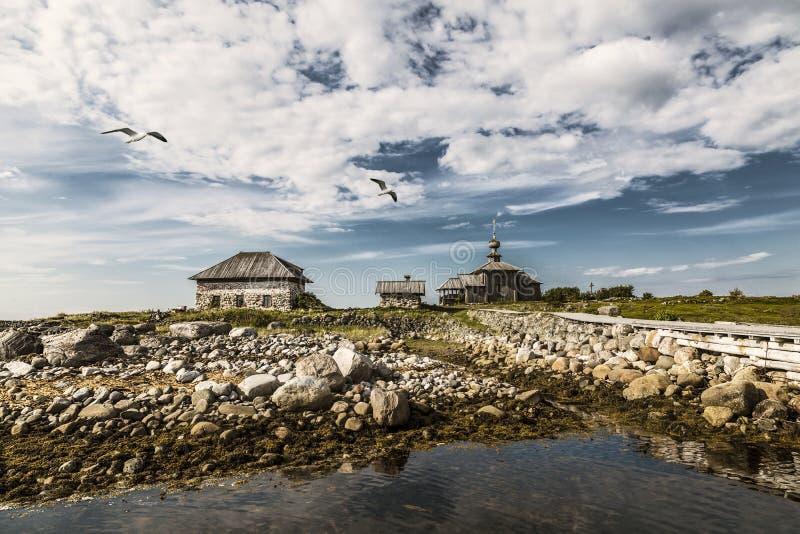 Andreevskiy parodia Solovetsky monaster na Bolshoi Zayatsky wyspie Solovetsky archipelag, Bia?y morze, zdjęcia stock