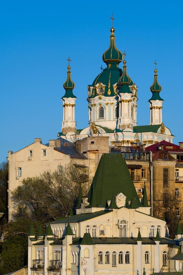 andreevsky berömd kiev gata ukraine royaltyfri fotografi