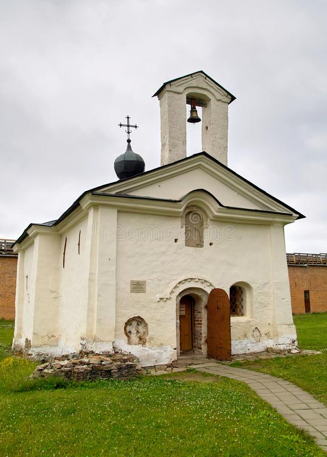 Andrei Stratelates Church veliky novgorod för antagandeauktionkyrka royaltyfria foton