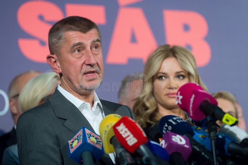 Andrej Babis stock foto's