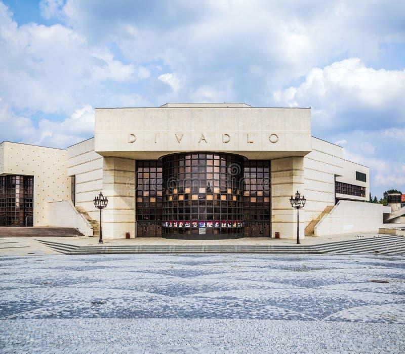 Andrej Bagar Theater in Nitra, Slovakia. Entrance of Bagar Theater in Insectiain Nitra, Slovakia stock photo