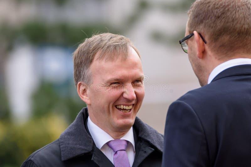 Andrejs Pildegovics, il segretario di stato del ministero degli affari esteri della Lettonia immagini stock libere da diritti