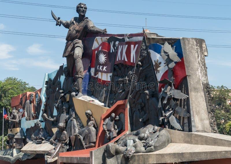 Andres Bonifacio Monument royaltyfri fotografi