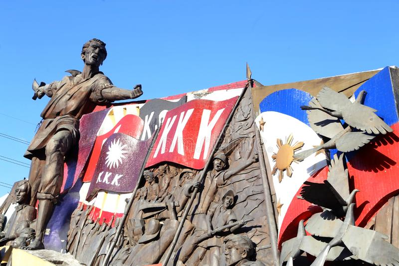 Andres Bonifacio Shrine near Manila City Hall in Philippines. A view of a portion of the iconic Andres Bonifacio Shrine located near the Manila City Hall in the stock images