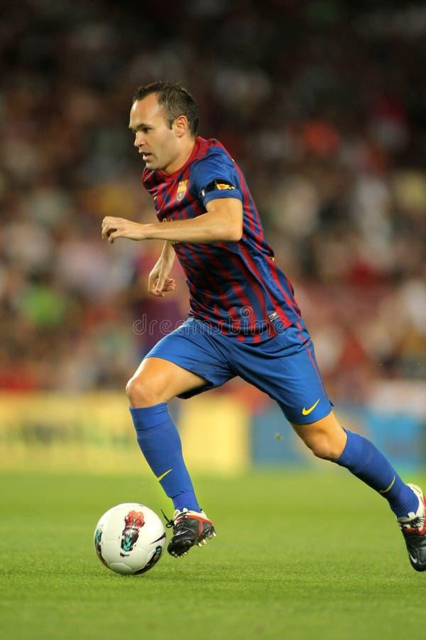 Andres Iniesta de FC Barcelona foto de stock
