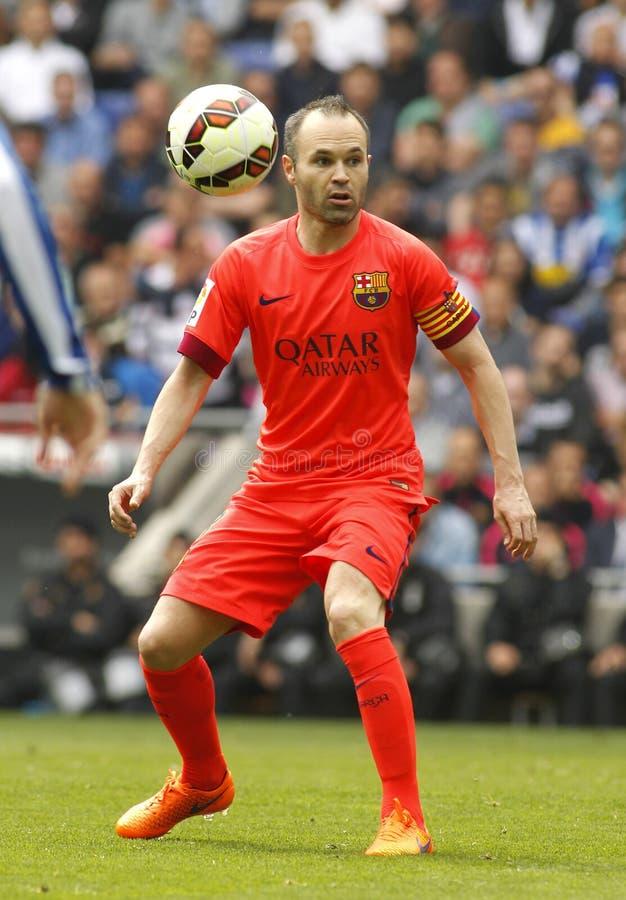 Andres Iniesta de FC Barcelona imagen de archivo