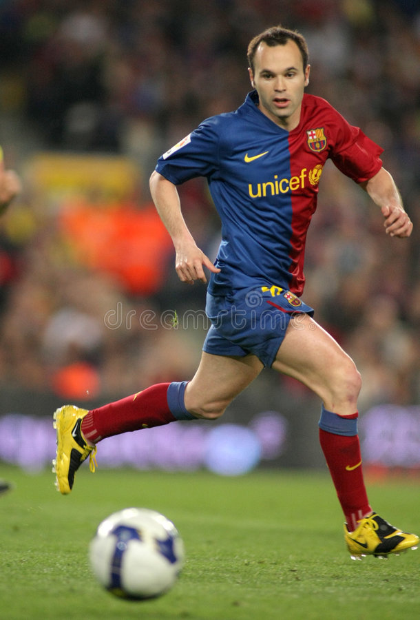 Andres Iniesta FC Barcellona fotografia stock
