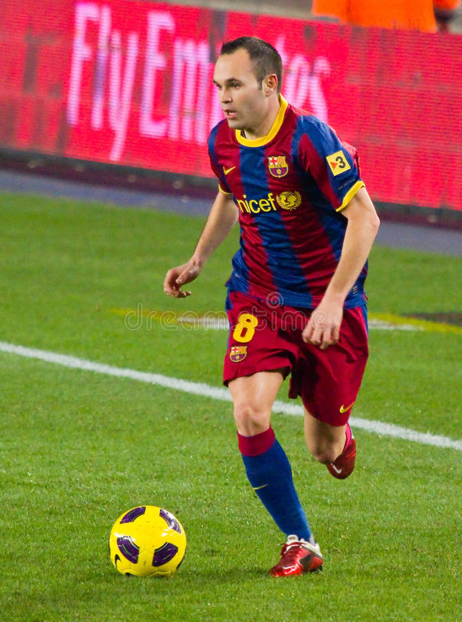 Andres Iniesta Of FC Barcelona Editorial Photo