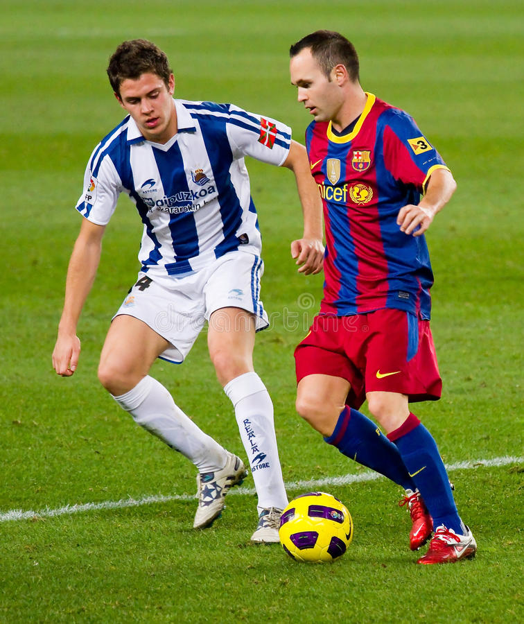 Andres Iniesta (FC Barcelone) photo libre de droits