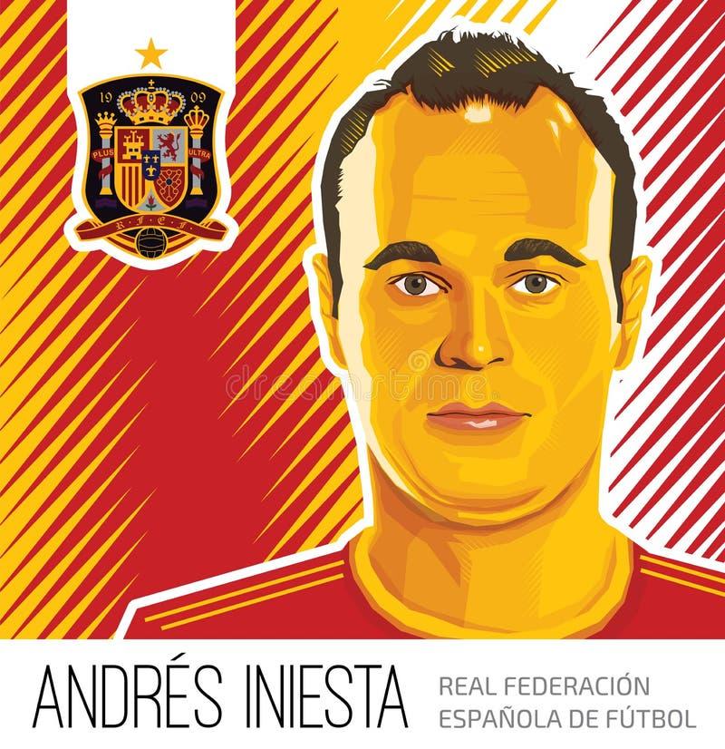 Andres Iniesta Spanish Football Star lizenzfreie stockbilder