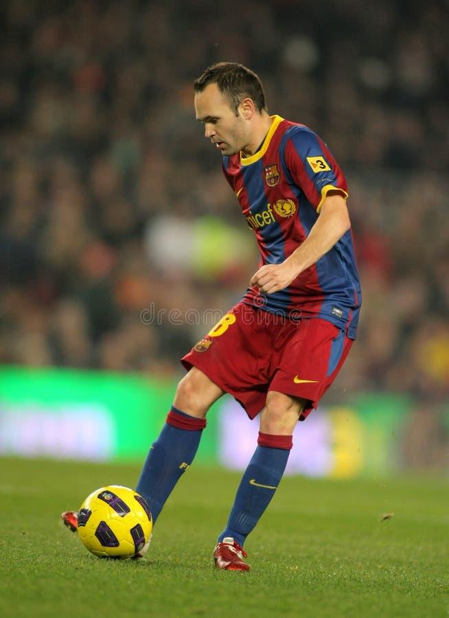 Andres Iniesta von Barcelona lizenzfreies stockbild
