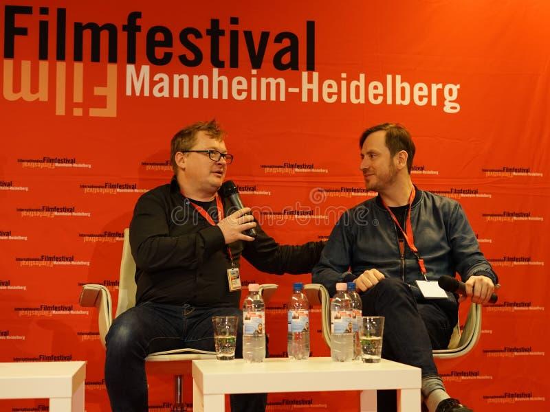 Andres Maimik en Regen Tolk in Internationales Filmdestival Mannheim-Heidelberg 2017 stock foto's