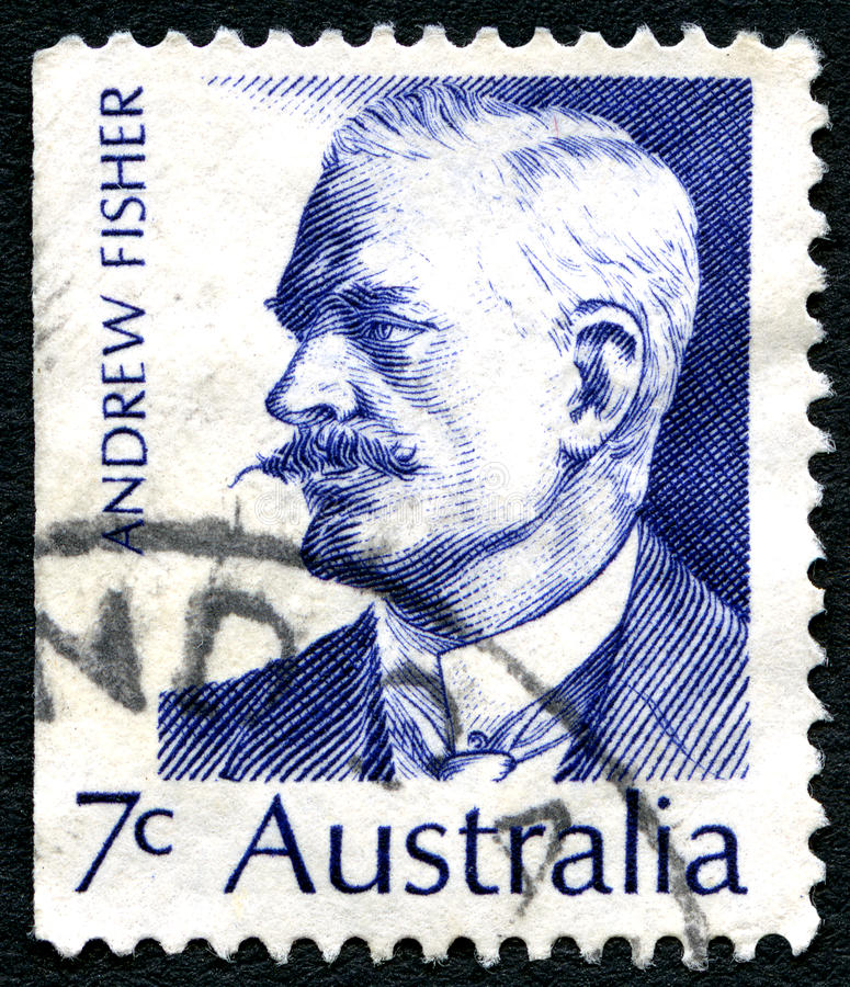 Andrew Fisher Australian Postage Stamp photos libres de droits