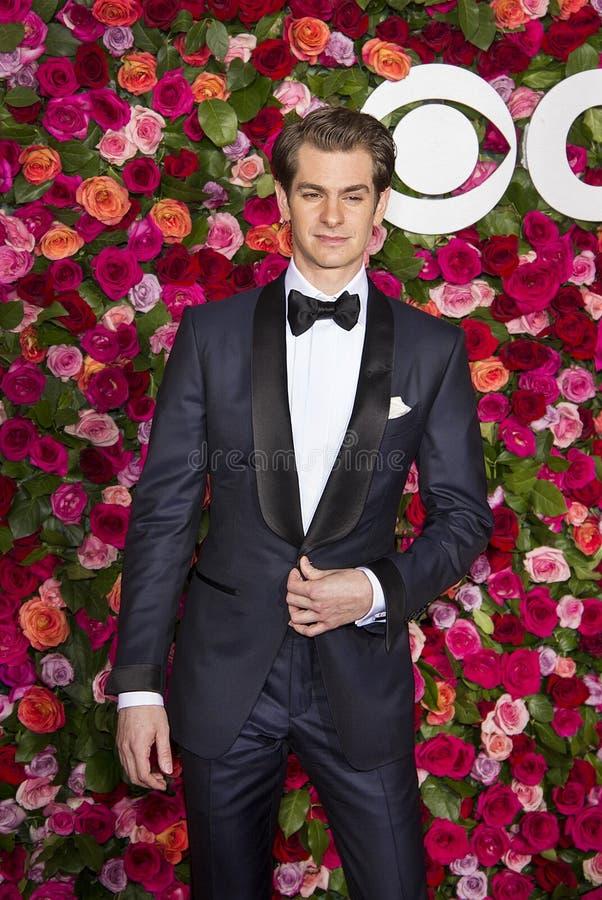 Andrew Garfield bei Tony Awards 2018 lizenzfreie stockfotos