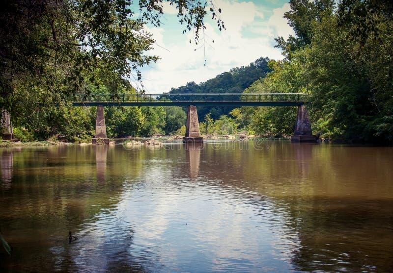 Andrew Hunter Bridge en Franklinville, Carolina del Norte imagen de archivo libre de regalías