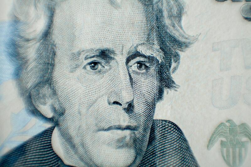 Andrew Jackson as depicted on the US 20 Dollar Bill.  royalty free stock images