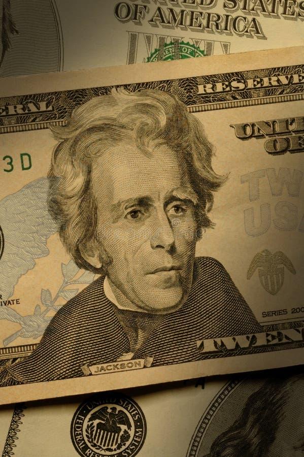 Andrew Jackson auf der Rechnung $20 lizenzfreies stockfoto