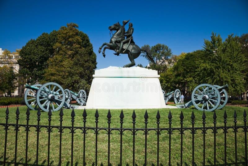 Andrew Jackson dans la place de Lafayette photographie stock libre de droits