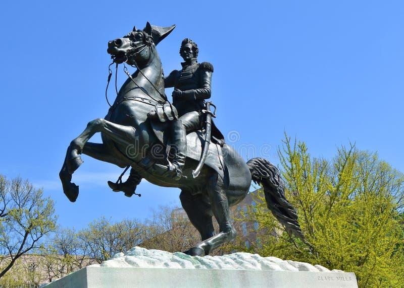 Andrew Jackson Monument, Washington DC. President Andrew Jackson Monument, located on the National Mall in Washington, DC stock photography