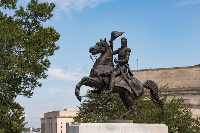 Andrew Jackson statua Nashville, Tennessee obrazy stock