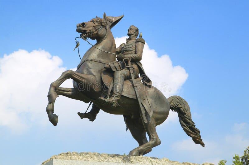 Andrew Jackson Statue en Jackson Square en New Orleans, Luisiana fotografía de archivo