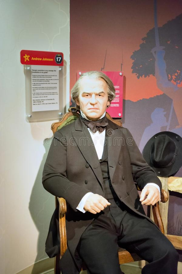 Andrew Johnson Wax Figure royalty-vrije stock fotografie