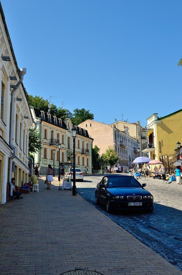 Andrew's Descent (Andreevskiy Spusk), Kiev royalty free stock photos