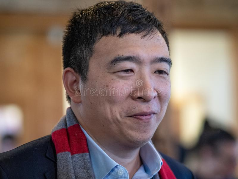 Andrew Yang Presidential Candidate imagens de stock royalty free