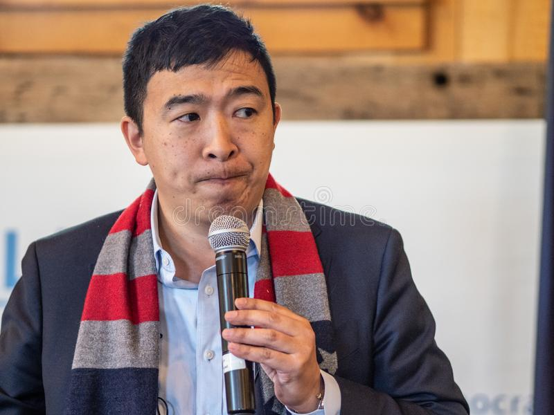 Andrew Yang Presidential Candidate stockfotos