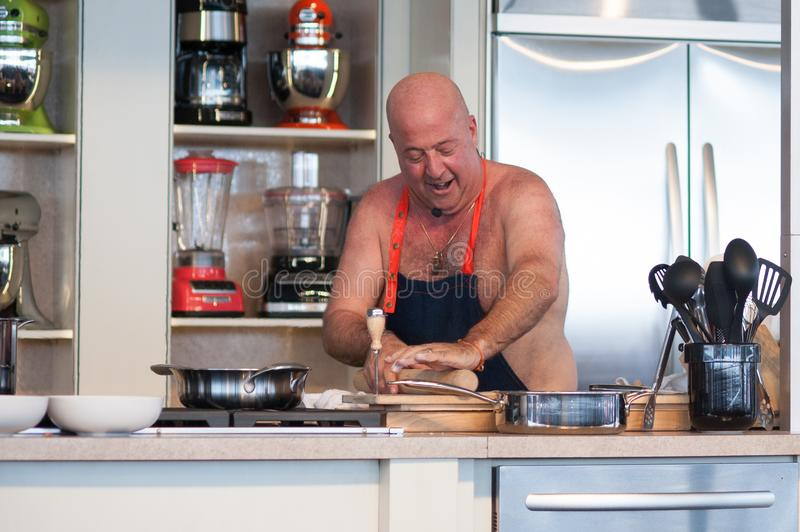 Andrew Zimmern at Food and Wine Festival. Andrew Zimmern, chef, at Food and Wine Festival in Austin Texas royalty free stock photo