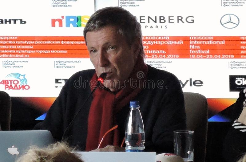 Andrey Plakhov à la première presse-conférence officielle du quarante-et-unième festival de film international de Moscou photos libres de droits