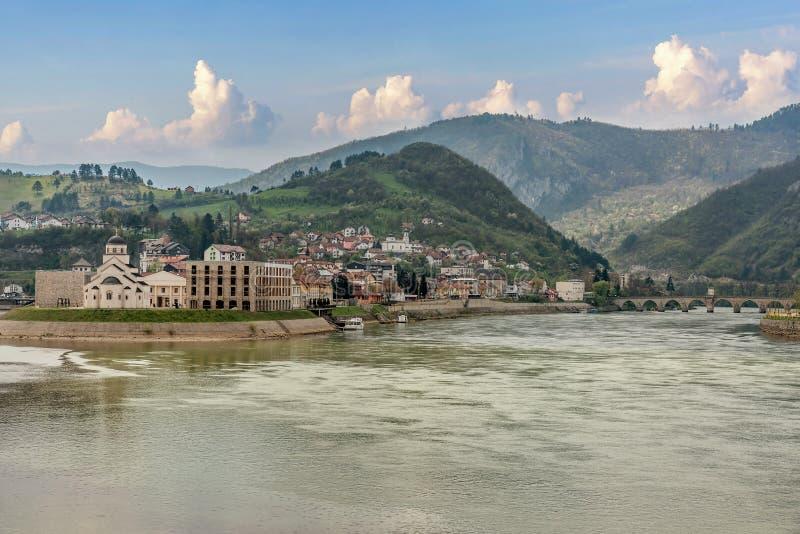 Andricgrad o Kamengrad Visegrad - in Bosnia-Erzegovina fotografia stock