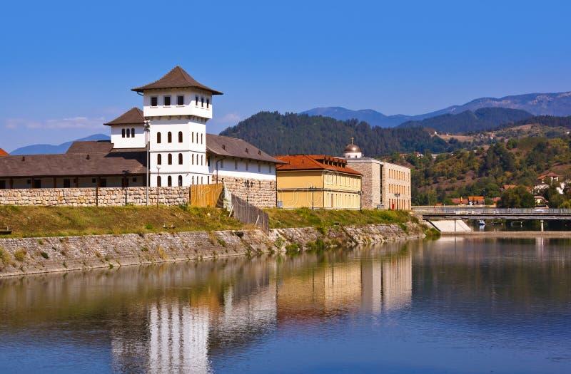 Andricgrad ou Kamengrad à Visegrad - en Bosnie-Herzégovine images libres de droits
