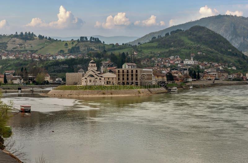 Andricgrad ou Kamengrad ? Visegrad - en Bosnie-Herz?govine photo libre de droits