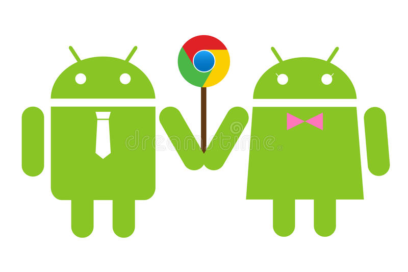 Download Andriod Couple Holding A Lolipop Chrome Editorial Image - Image: 23750575