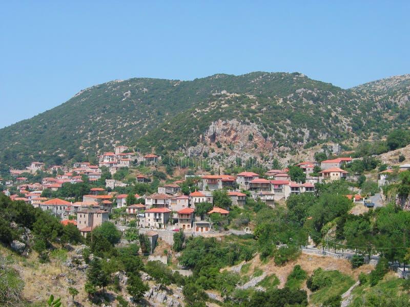 Andritsaina town in Peloponnese Greece. Europe stock photo