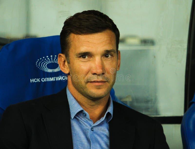 Andriy Shevchenko. KYIV, 5 SEPTEMBER 2016 - Ukrainian coach Andriy Shevchenko during the match selection to the FIFA World Cup 2018 European Qualifying Ukraine royalty free stock image