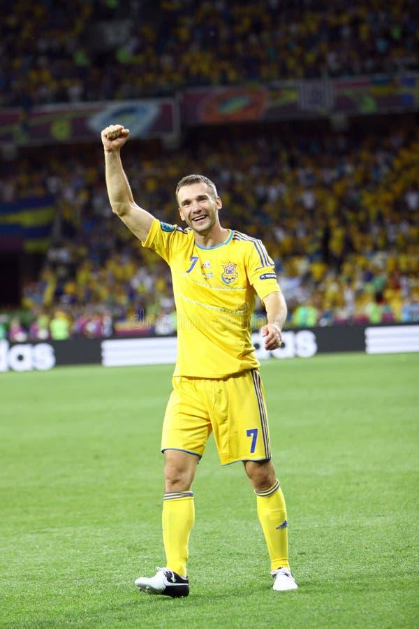 Andriy Shevchenko von Ukraine lizenzfreie stockfotografie