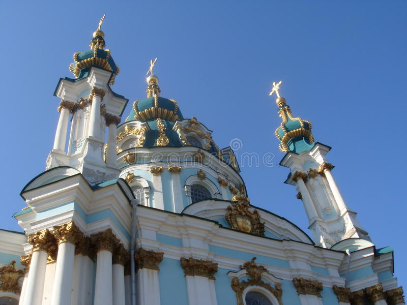 Andriyivsky cathedral royalty free stock image