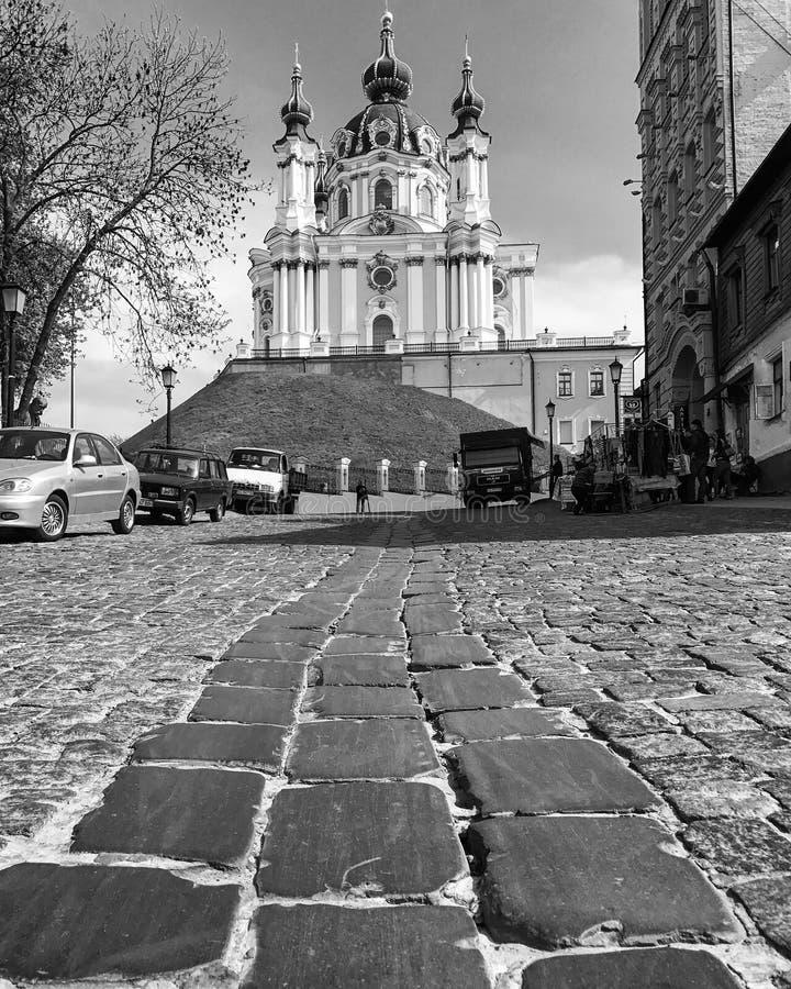Andriyivskyy-Abfall stockfotos
