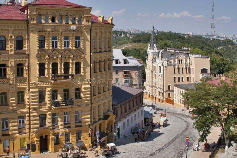 Andriyivskyy Descent street in Kiev royalty free stock photos
