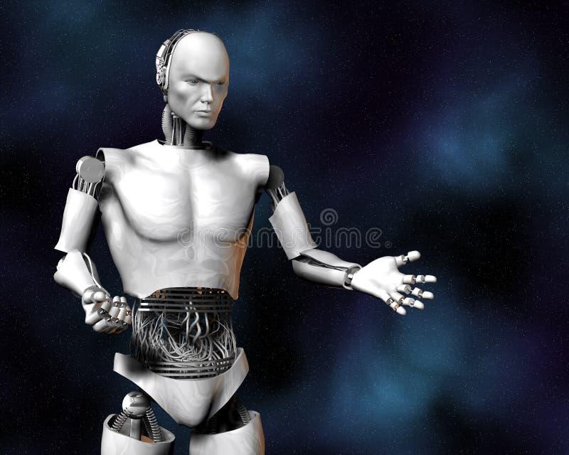 Androïde, cybernetische intelligentie stock illustratie
