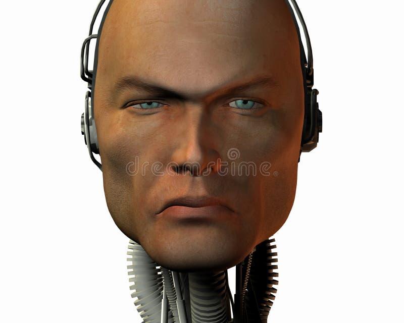 Androïde, cybernetische intelligentie royalty-vrije illustratie