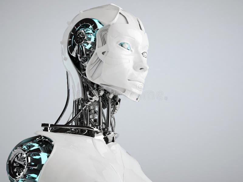 Androïde de robot illustration de vecteur