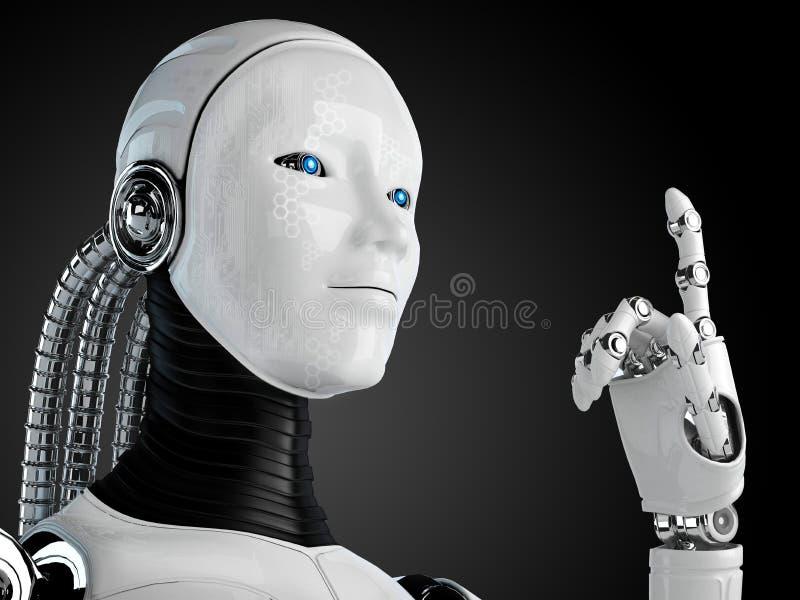 Androïde de robot illustration libre de droits