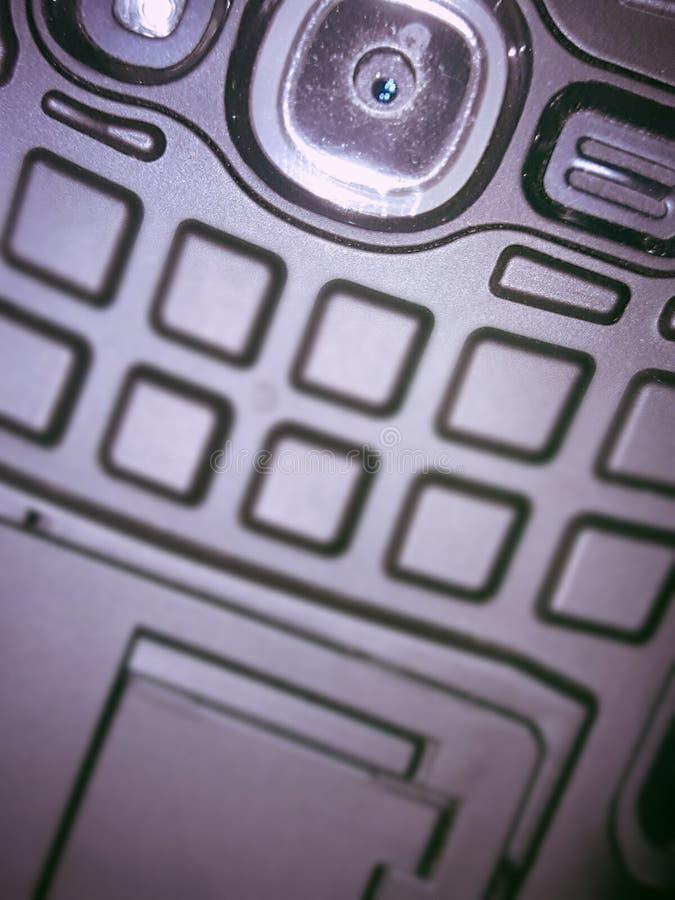 Androïde doek van nadruk de mobiele lense stock foto