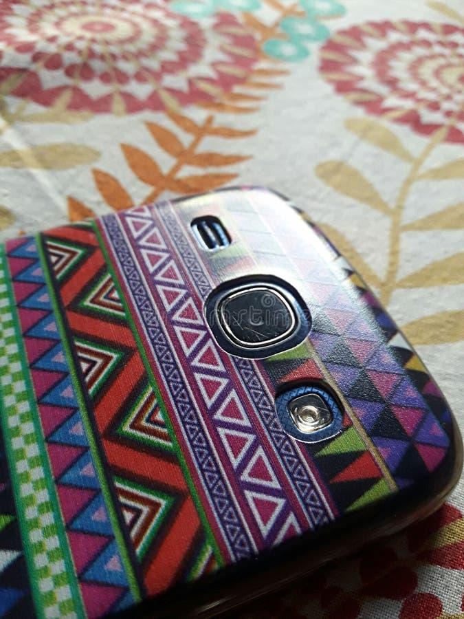 Androïde doek van nadruk de mobiele lense stock afbeeldingen